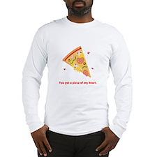 Yummy Pizza Heart Pun Humor Long Sleeve T-Shirt