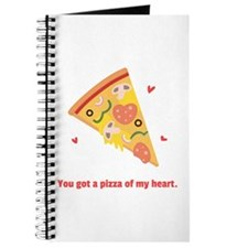 Yummy Pizza Heart Pun Humor Journal