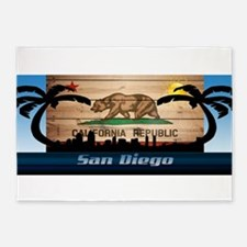 San Diego Skyline 5'x7'Area Rug