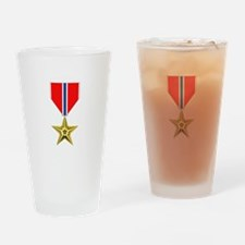 BRONZE STAR MEDAL Drinking Glass