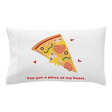Yummy Pizza Heart Pun Humor Pillow Case