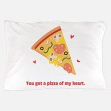Yummy Pizza Heart Pun Humor Pillow Case