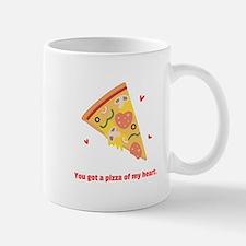 Yummy Pizza Heart Pun Humor Mugs