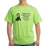 Henry David Thoreau 14 Green T-Shirt