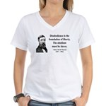 Henry David Thoreau 14 Women's V-Neck T-Shirt