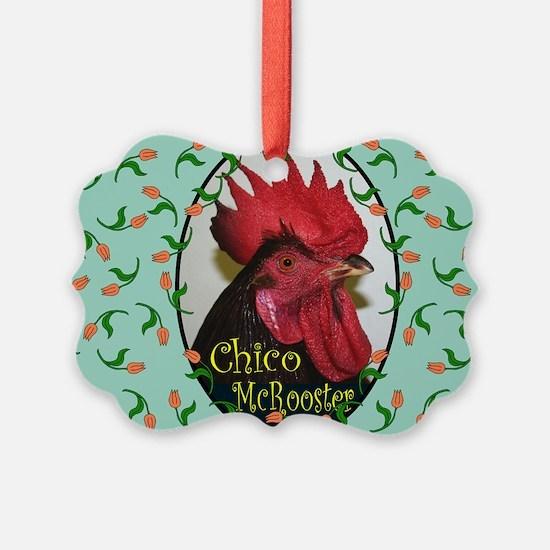 Chico Rect, turq Ornament