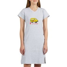 B Is For Bus Women's Nightshirt