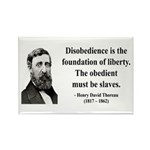 Henry David Thoreau 14 Rectangle Magnet (10 pack)