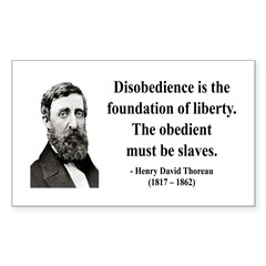 Henry David Thoreau 14 Rectangle Decal