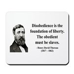 Henry David Thoreau 14 Mousepad