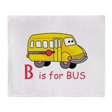 B Is For Bus Throw Blanket