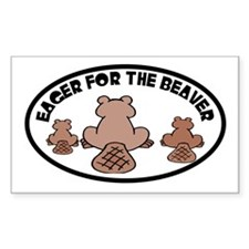 EAGER BEAVER Rectangle Decal