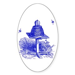 The Hive in Blue Oval Decal