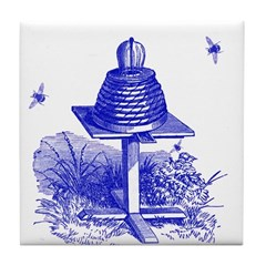 The Hive in Blue Tile Coaster