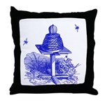 The Hive in Blue Throw Pillow
