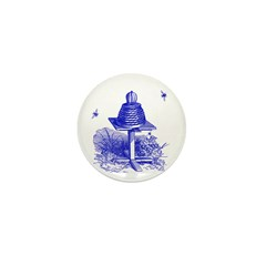 The Hive in Blue Mini Button (100 pack)