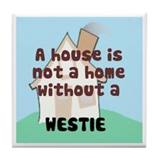 Westie Home Tile Coaster