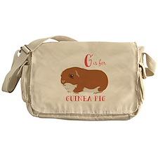 G is for Guinea Pig Messenger Bag