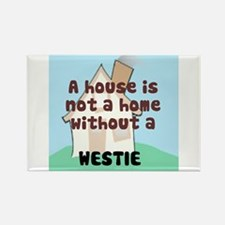 Westie Home Rectangle Magnet