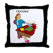 Phone Operator Throw Pillow