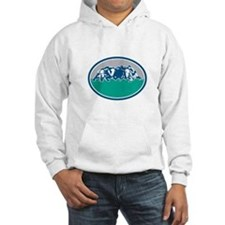 Rugby Union Scrum Oval Retro Hoodie