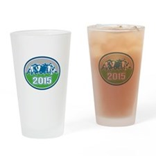 Rugby Scrum 2015 Oval Drinking Glass