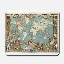British Empire map 1886 Mousepad