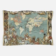 British Empire map 1886 Pillow Case
