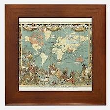 British Empire map 1886 Framed Tile