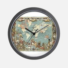 British Empire map 1886 Wall Clock