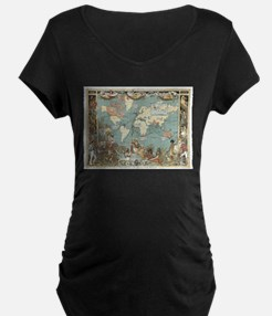 British Empire map 1886 Maternity T-Shirt