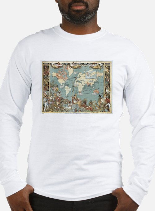 British Empire map 1886 Long Sleeve T-Shirt