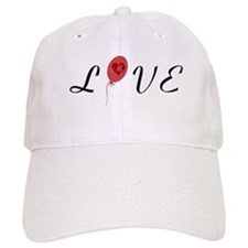 Custom Red Love Heart Balloon Baseball Baseball Cap