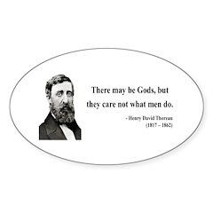 Henry David Thoreau 15 Oval Decal