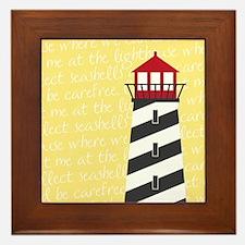 Lighthouse Yellow Framed Tile