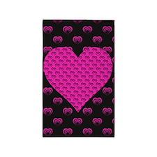 Pink Hearts Area Rug