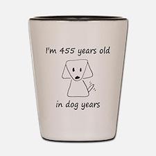 65 dog years 6 Shot Glass