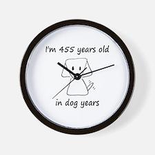 65 dog years 6 - 2 Wall Clock