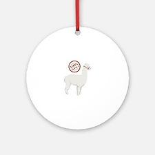 100% Alpaca Ornament (Round)