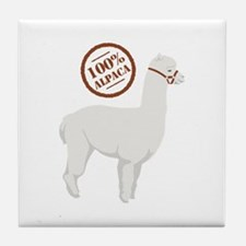 100% Alpaca Tile Coaster
