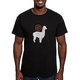 Alpaca wool Fitted T-shirts (Dark)