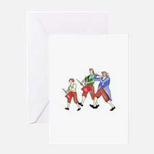 FIFE AND DRUM BAND Greeting Cards