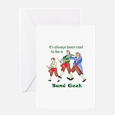 BAND GEEK Greeting Cards
