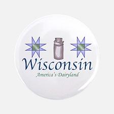 """Wisconsin 3.5"""" Button"""