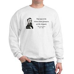 Henry David Thoreau 16 Sweatshirt