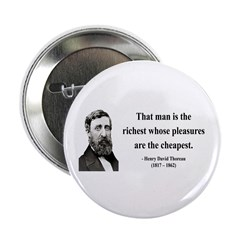 "Henry David Thoreau 16 2.25"" Button (10 pack)"
