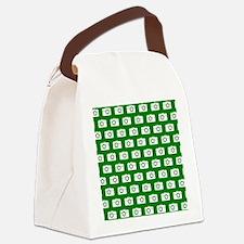 Green and White Camera Illustrati Canvas Lunch Bag