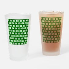 Green and White Camera Illustration Drinking Glass