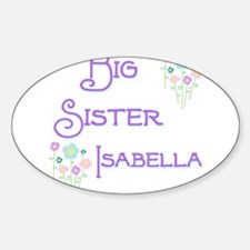 Big Sister Isabella Oval Decal