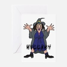 Halloween Witch Hillary Greeting Cards (Pk of 10)